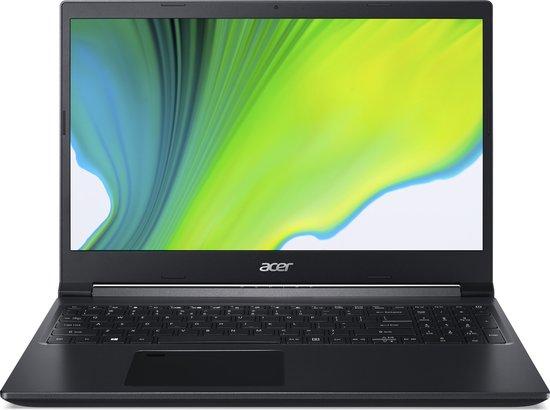 Acer Aspire 7 A715-75G-56GB Notebook Zwart 39,6 cm (15.6'') 1920 x 1080 Pixels Intel® 9de generatie Core™ i5 8 GB DDR4-SDRAM 512 GB SSD NVIDIA GeForce GTX 1650 Wi-Fi 6 (802.11ax) Windows 10 Home