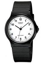CASIO - MQ-24-7BLLGF - CASIO Collection - horloge - Unisex - Zwart - Kunststof Ø 34 mm