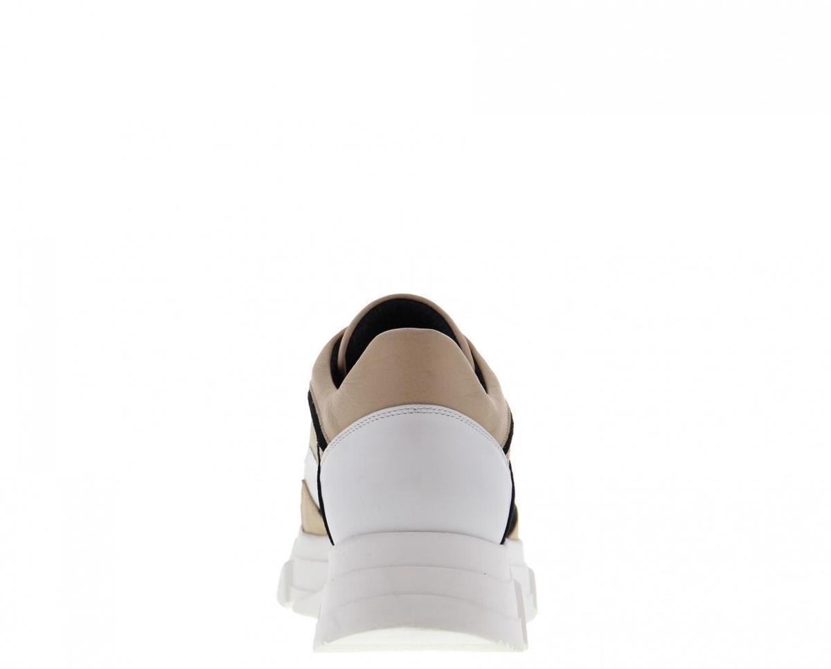 Tango   Kady fat 22-b zusjes Tilstra black/white/beige leather/suede combi sneaker -... Sneakers