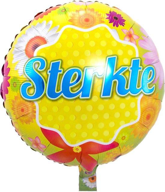 Beterschap folie ballon sturen helium gevuld Sterkte 46 cm - Folieballon versturen/verzenden