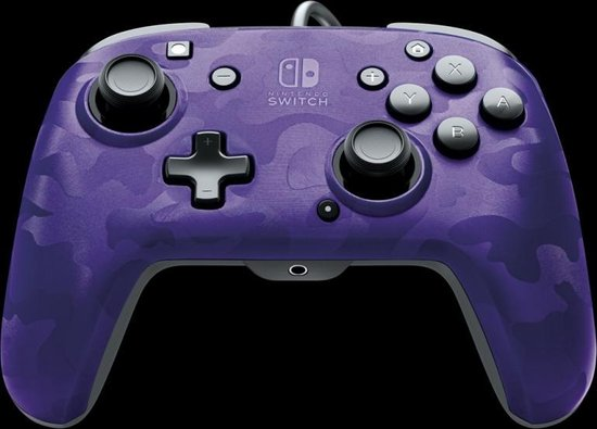 Faceoff Deluxe+ Nintendo Switch Controller - Purple Camo