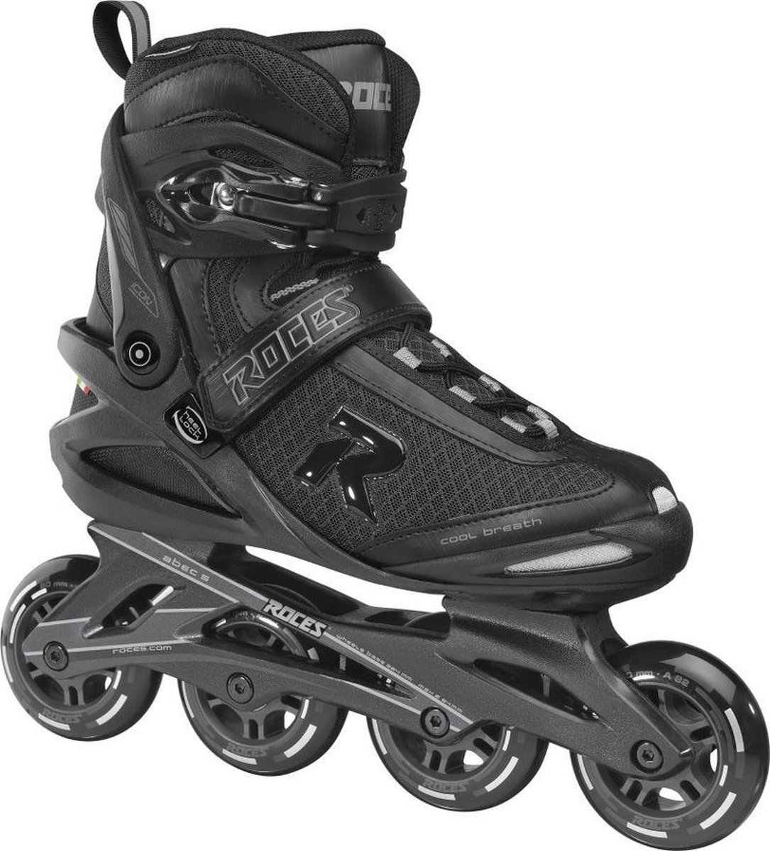 Roces Icon inline skates 80mm black/charcoal 39