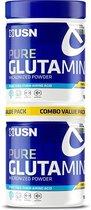 USN Pure Glutamine 2 x 150 g - Glutamine Poeder, Aminozuren - Spiergroei, Herstel