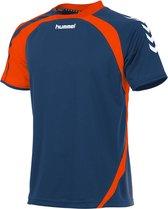 hummel Odense Shirt k.m. Sportshirt Kinderen - Blauw - Maat 140