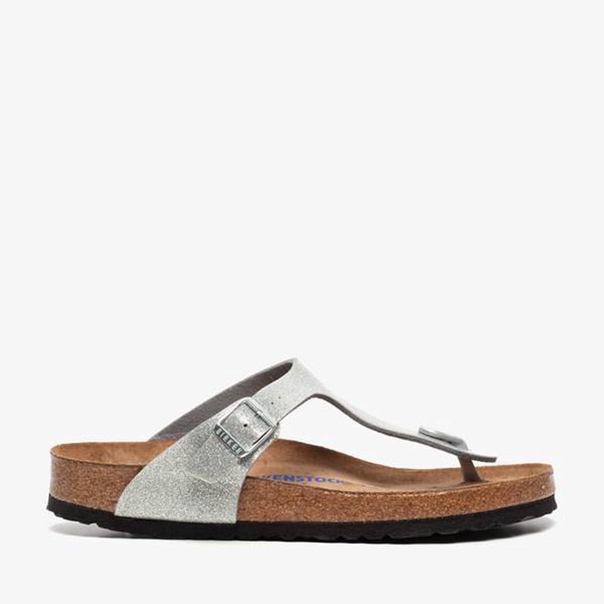 Birkenstock Gizeh dames teenslippers - Zilver - Maat 37 Slippers