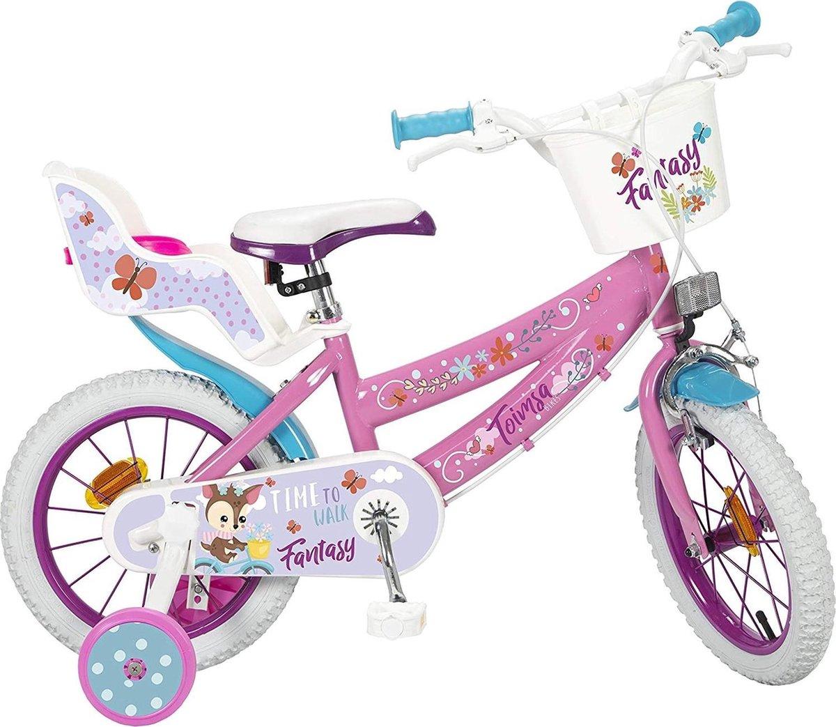 Toimsa Fantasy Walk Kinderfiets Vrouwen Wit;Roze 14 online kopen