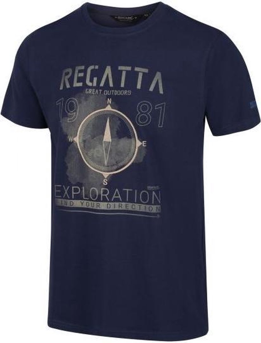 Regatta - Men's Cline IV Graphic T-Shirt - Outdoorshirt - Mannen - Maat XXXL - Blauw