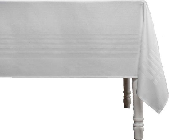De Witte Lietaer Tafellaken Deauville 350x160 Cm Katoen Lichtgrijs