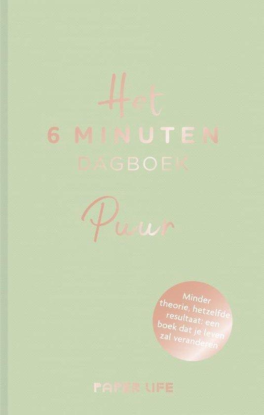 Afbeelding van Het 6 minuten dagboek  -   Het 6 minuten dagboek - PUUR