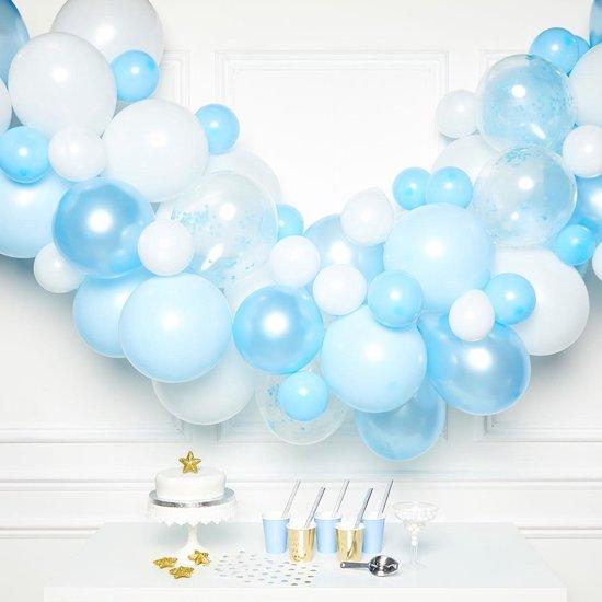 Amscan Ballonslinger Latex 1 Meter Blauw 70-delig