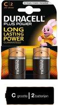 Duracell Plus alkaline C-batterijen, verpakking van 2