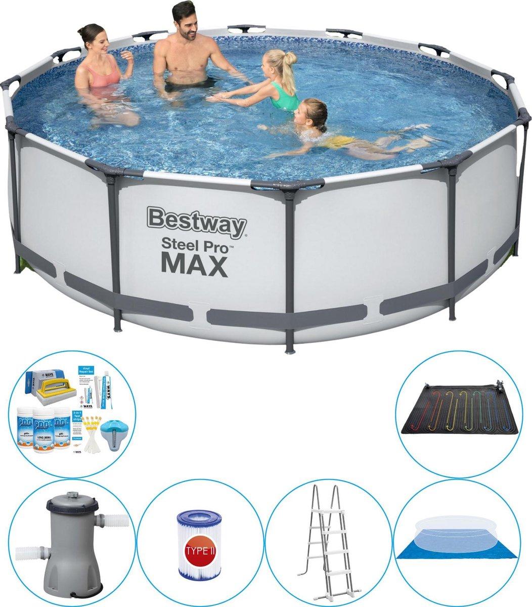 Bestway Steel Pro MAX Rond 366x100 cm - 7-delig - Zwembad Combi Deal
