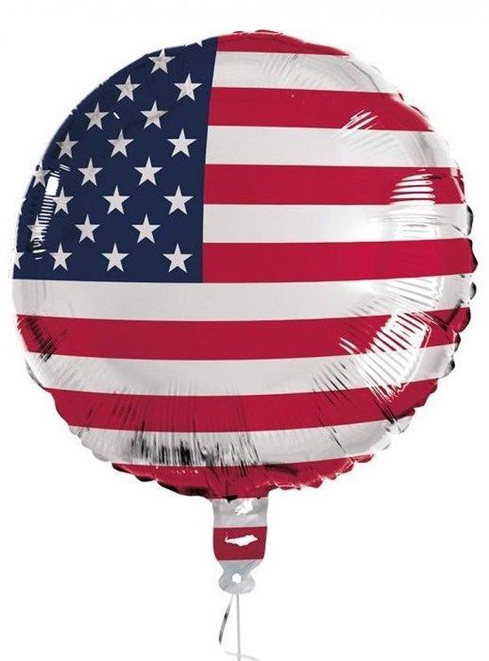 Boland Folieballon Usa 45 Cm Rood/wit/blauw