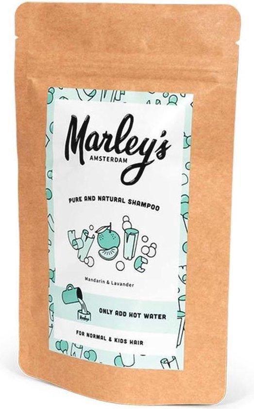 Marley's Amsterdam duurzame & natuurlijke shampoo - Normaal Haar - Mandarijn & Lavandin - 450ml - shampoovlokken