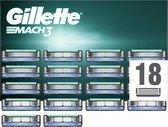 Gillette Mach3 Scheermesjes Voor Mannen - 18 Navulmesjes
