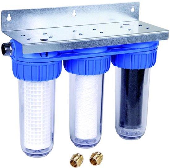 Honeywell regenwaterfilter - waterfilter trio triplex - regenwater filter filtratie - met actieve kool - actief koolstof