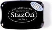 Stazon stempelkussen Jet Black SZ-000-031 zwart inkt inktkussen