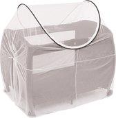 DERYAN Luxe Klamboe voor Campingbed - Mosquito Protector - Campingbed Mosquito Protector - Wit - Universeel