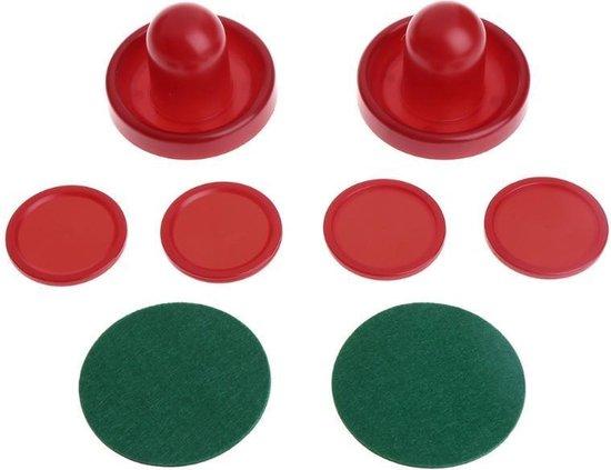 Thumbnail van een extra afbeelding van het spel 1 set / 8 stks air hockey accessoires-goalies puck vilt duwhamer, volwassen tafelspellen - 76 [60]