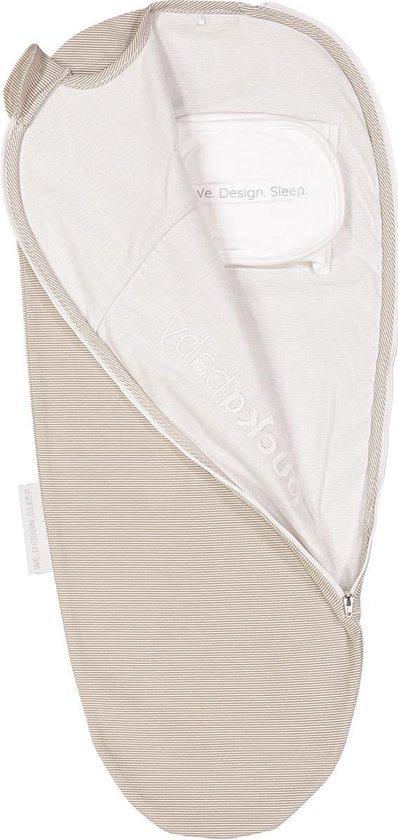 Puckababy inbakerslaapzak Original Piep 0-3 maanden - Sand Stripe