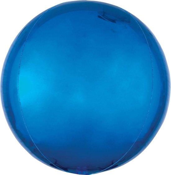 Orbz mat blauw folie ballon.