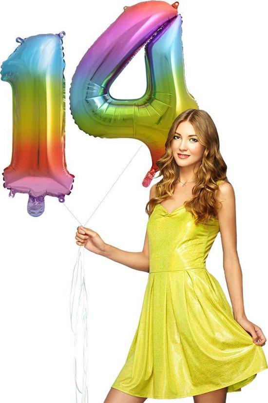 Regenboog cijfer Ballon 14.