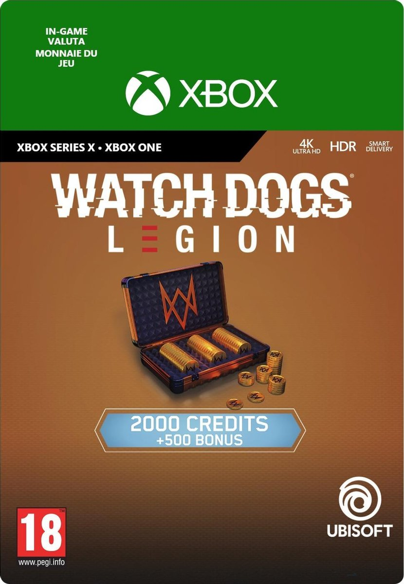 Watch Dogs Legion 2.500 WD Credits - In-game tegoed - Xbox One/Xbox Series X/S