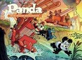Panda ballonstrip 01. panda en de meester brandmeester