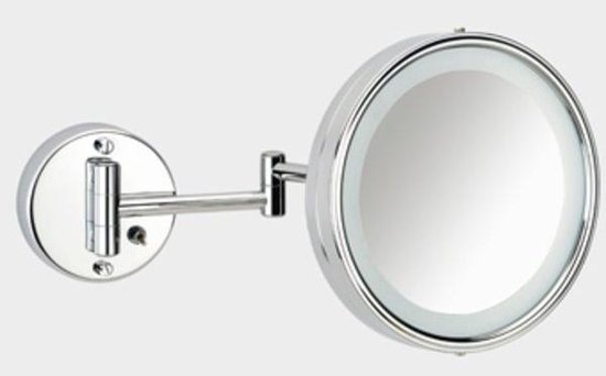 Plieger Scheerspiegel basic met verlichting - wandmontage - Vergroot 3x