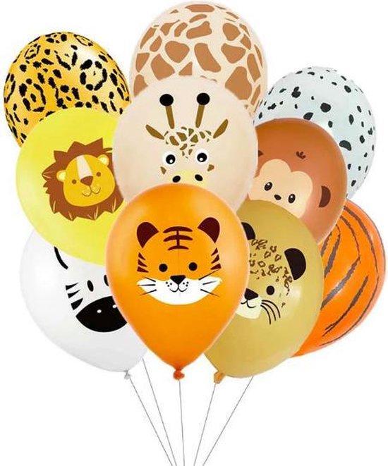 ProductGoods - 10x Jungle Ballonnen Verjaardag - Verjaardag Kinderen - Ballonnen - Ballonnen Verjaardag - Jungle - Kinderfeestje