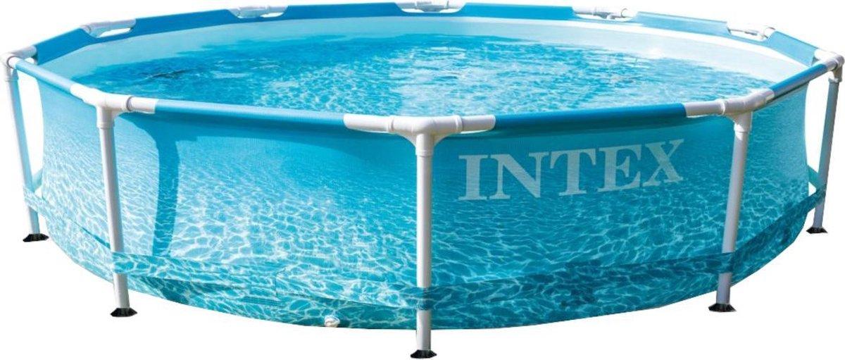 Intex Opzetzwembad Met Pomp 28208np Beachside 305 Cm Blauw