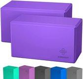 Yoga Blok - Zinaps Yoga Block Set van 2 EVA Foam Yoga en Pilates voor beginners (WK 02130)