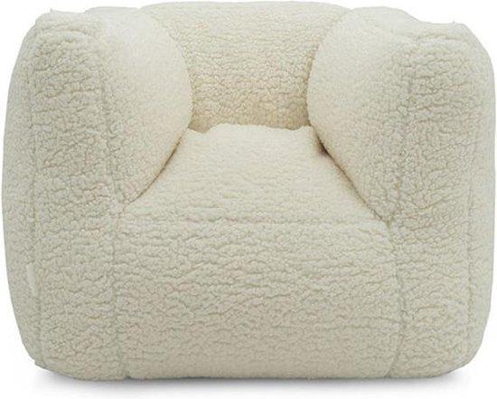 Jollein Fauteuiltje Beanbag Teddy - Cream white