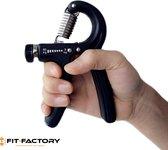 Fit Factory Zwart Teller Handtrainer 10 tot 60kg- Handknijper- Knijphalter - Armtrainer – Gewichten - Hand knijper set - Handgripper - Hand gripper & Spier - Onderarm trainer – Grip Trainer - Vinger Gripper - Fitness
