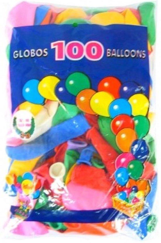 Helium ballonnen 100 stuks assortie kleuren nr 12
