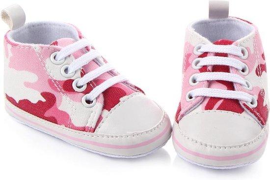 Roze sneakers - Textiel - Maat 21 - Zachte zool - 12 tot 18 maanden