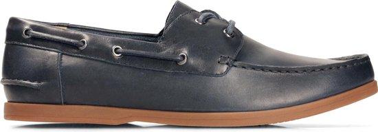 Clarks - Herenschoenen - Morven Sail - G - navy leather - maat 10