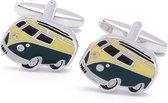 Manchetknopen - Bus Busje Camper Volkswagen Hippie