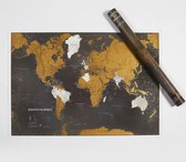 Scratch the World Black Edition Wall Map