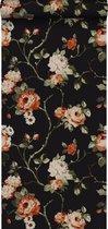 Origin behang bloemen zwart - 347431 - 53 x 1005 cm