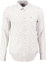 Garcia wit slim fit overhemd fine cotton valt kleiner - Maat  S
