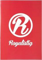 Royalistiq Schrift A4 Gelijnd Rood