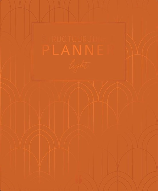 Structuurjunkie planner - Art Deco (saffraan)