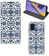 Samsung Galaxy A51 Smart Cover Flower Blue