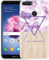 Huawei P Smart Hoesje Color Paint Wood Art