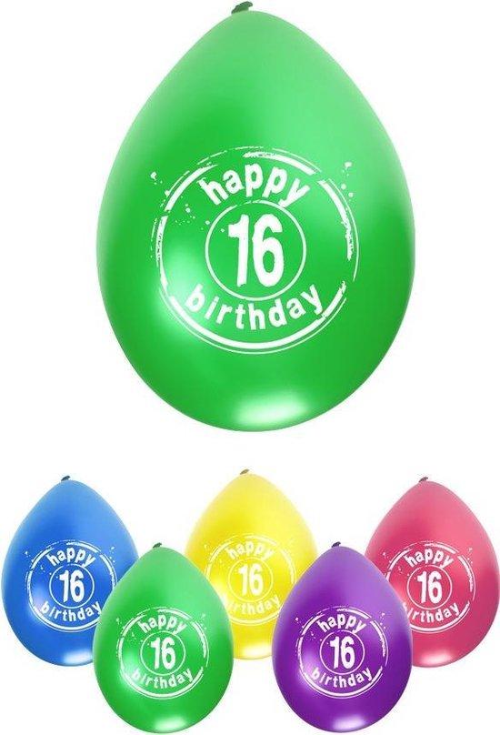 Leeftijdballon 16 jaar