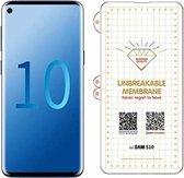 Samsung Galaxy S10 Diamond Film Folie screenprotector Full-screen | Fingerprint UnlockingTransparant/Clear - van Bixb