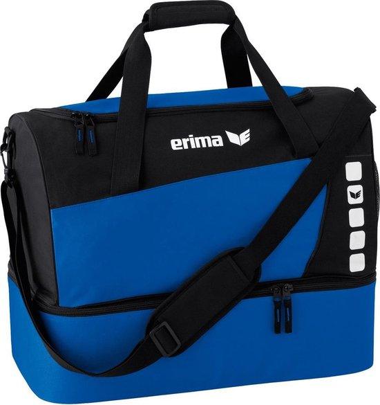 Erima Club 5 (S) Sporttas met Bodemvak  - New Royal/Zwart - Maat S - Erima