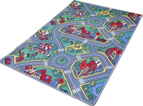 Afbeelding van Tapijtkeuze Speelmat Raduno - 140x200 cm - Verkeerskleed speelgoed