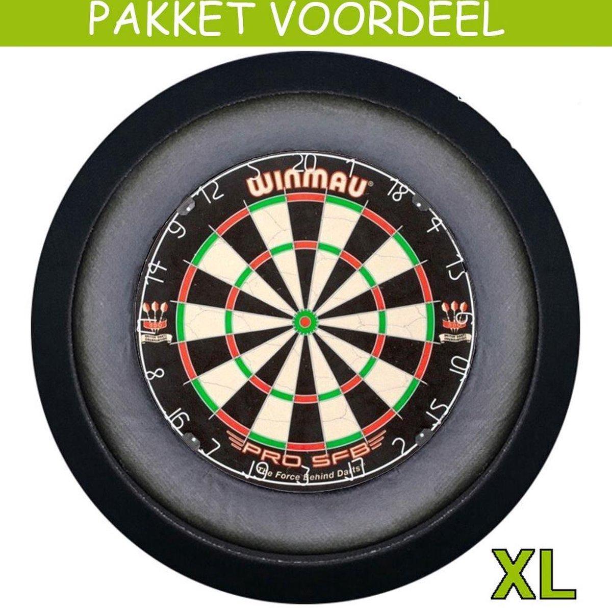 Dartbord Verlichting Voordeelpakket Super Deluxe + Pro SFB + Dartbordverlichting Deluxe XL(Zwart)